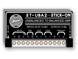 Stereo Unbalanced to Balanced Conversion with Adjustable Gain