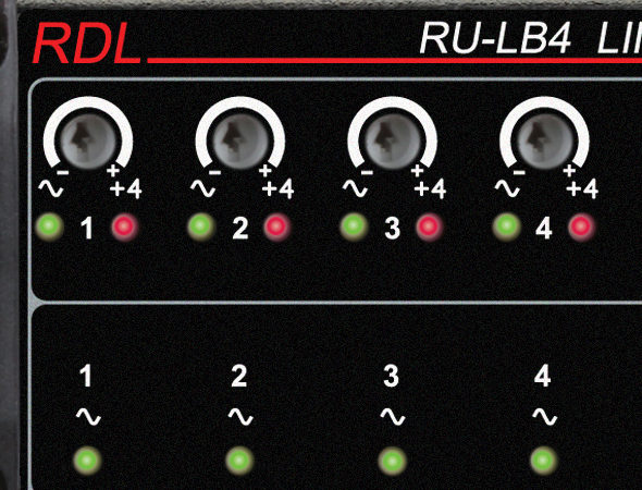 Setting Gain on RDL Line-Level Dante™ Bi-Directional Interface Products