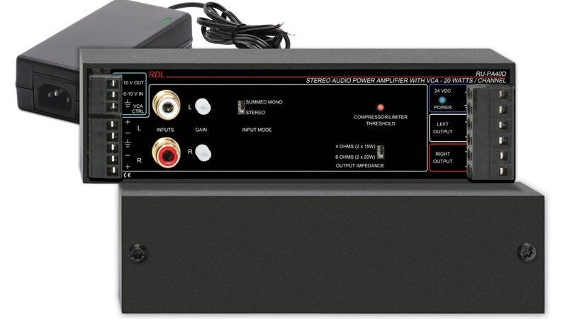 Ultra-Compact 40 Watt Stereo Power Amplifiers
