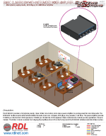 BASIC CLASSROOM WITH INTEGRATED MIXER AMPLIFIER Microphone, Laptop Audio, DVD Player, 20 Watt Mixer Amplifier