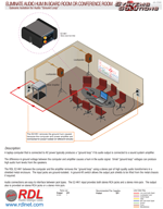 "ELIMINATE AUDIO HUM IN BOARD ROOM OR CONFERENCE ROOM Galvanic Isolation for Audio ""Ground Loop"""