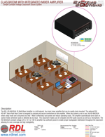 CLASSROOM WITH INTEGRATED MIXER AMPLIFIER Simple Constant Voltage Classroom Sound System