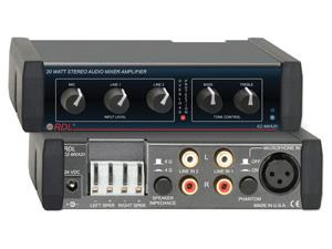 Ez Mxa20 ‐ 20 W Stereo Audio Mixer Amplifier With Eq 8