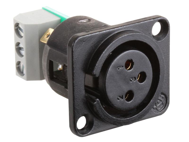 Ams Xlf ‐ Xlr 3 Pin Female Jack Terminal Block Connections