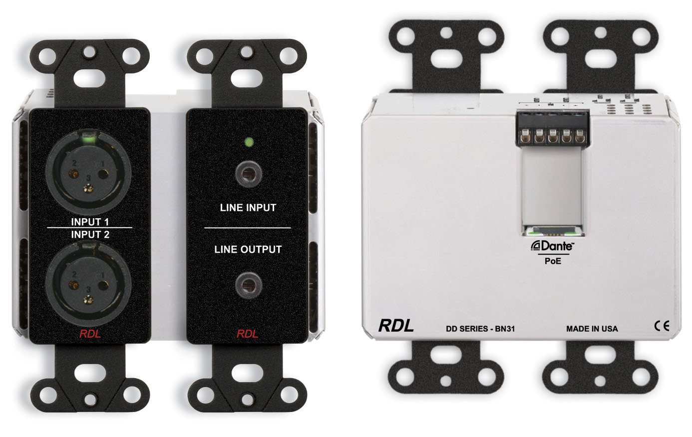 Dante Products Wiring A 1 4 Out Put Jack Ddb Bn31 Wall Mounted Bi Directional Mic Line Interface X