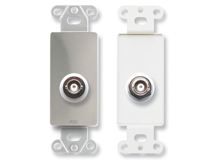 Ds Bnc D ‐ Insulated Double Bnc Jack On Decora 174 Wall Plate