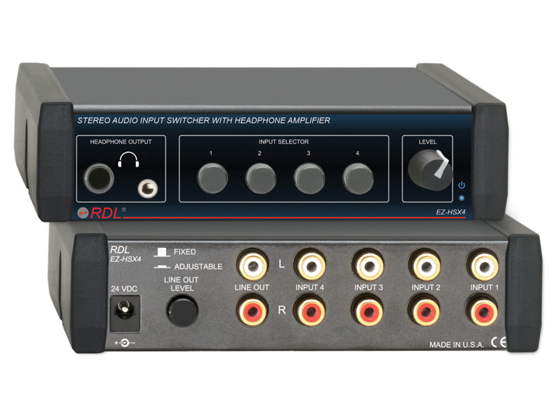 Ez hsx4 stereo audio input switcher with headphone amp 4x1 ez hsx4 asfbconference2016 Choice Image