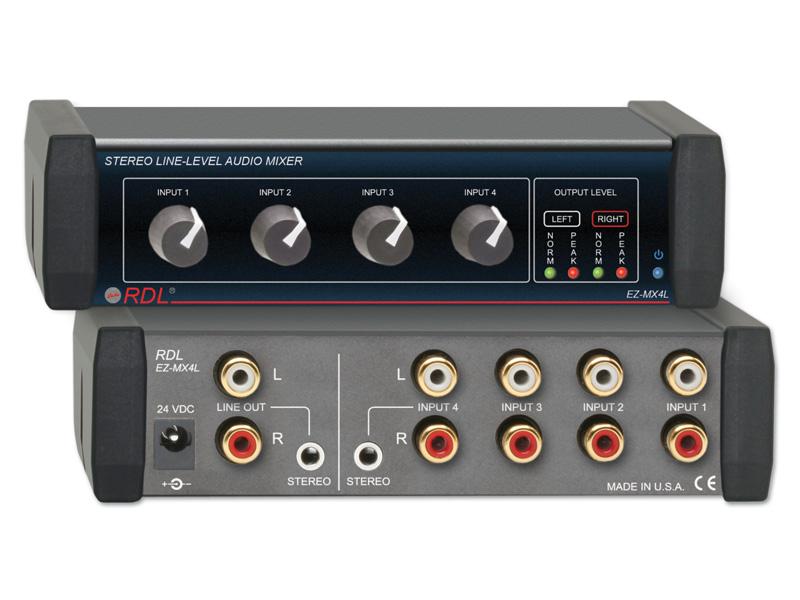 Ez Mx4l ‐ Stereo Line Level Audio Mixer 4x1