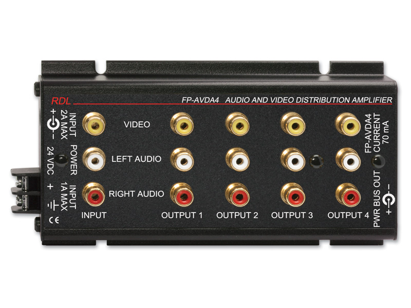 Fp Avda4 ‐ Stereo Audio Video Distribution Amplifier 1x4