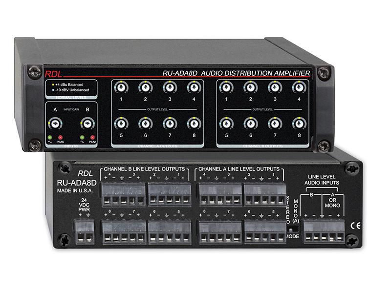 Ru Ada8d ‐ Audio Distribution Amplifier