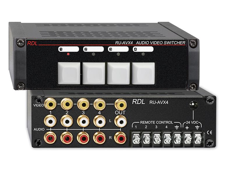 Ru Avx4 ‐ Audio Video Switcher 4x1 Rca