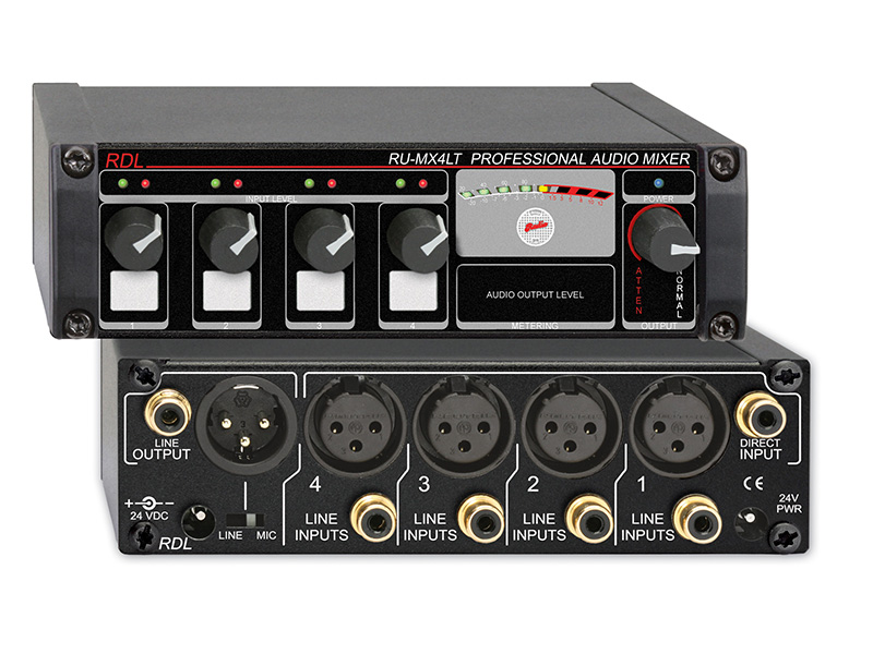 Ru Mx4lt ‐ Professional 4 Channel Line Level Mixer With