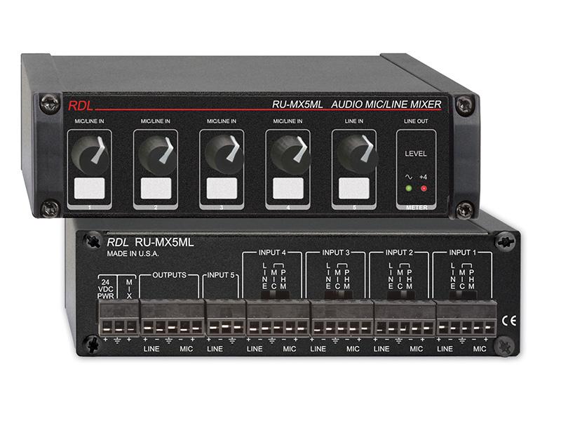 ru mx5ml 5 channel mic line audio mixer with phantom power. Black Bedroom Furniture Sets. Home Design Ideas