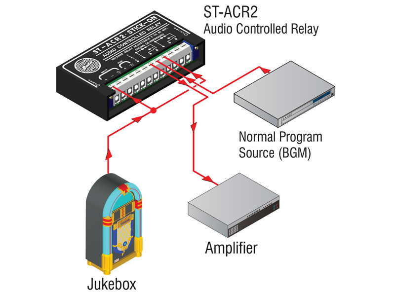 St Acr2 ‐ Line Level Audio Controlled Relay 5 To 50 S Delay