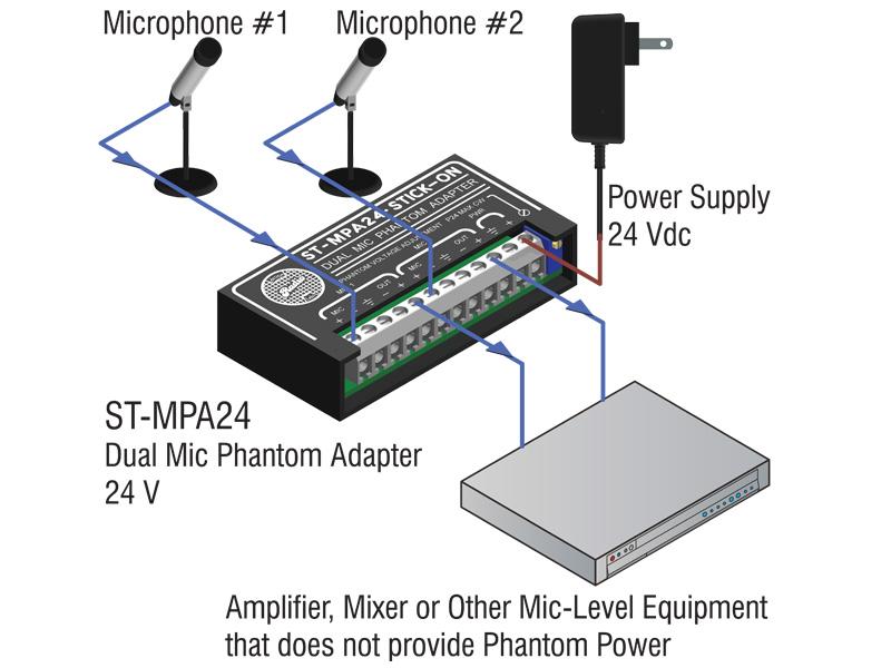 st mpa24 ‐ dual microphone phantom adapter 24 v adjustable st mpa24 dual microphone phantom adapter 24 v adjustable