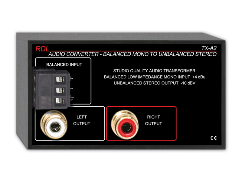 Tx A2 ‐ Audio Converter Balanced To Unbalanced