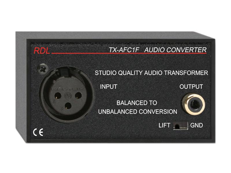 Tx Afc1f Balanced To Unbalanced Audio Transformer Xlr Rca
