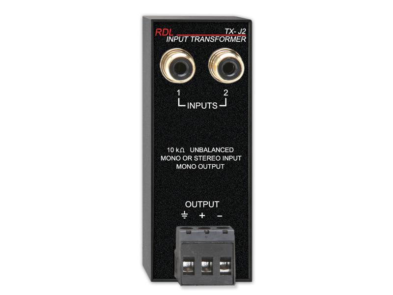TX-J2 ‐ Unbalanced Input Transformer - Unbalanced stereo inputs to ...