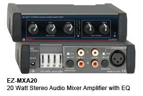 EZ-MXA20 20 Watt Stereo Audio Mixer Amplifier with EQ